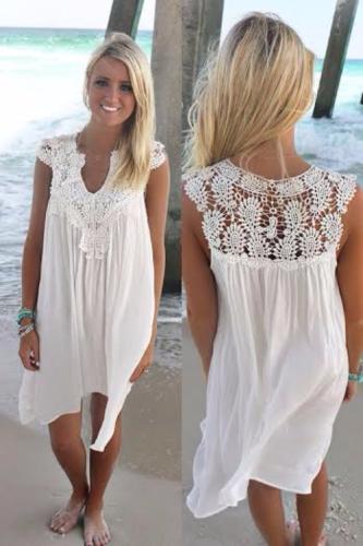 2148518631 Sukienka plażowa z koronką